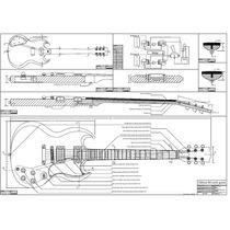 Planta Gibson Sg Model Para Impressão(luthier)