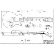 Planta Gibson Melody Maker Em Pdf Para Impressão (luthier)
