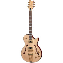 Golden Gsh570 Guitarra Semi Acústica Natural - Frete Grátis