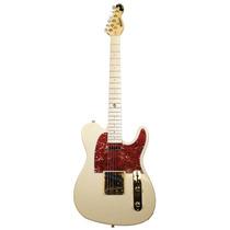 Guitarra | Telecaster | Creme | Ferragens Dourada | Dolphin