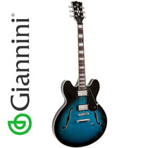 Guitarra Semi Acústica Azul Rock Bossa Nova Gianinni