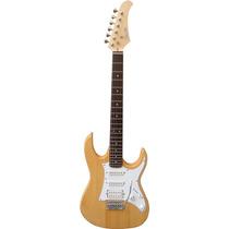 Thomaz Teg-310 Guitarra Strato Cor Madeira - Frete Grátis
