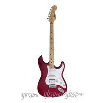 Guitarra Gbspro Stratocaster-verm Trans Frete Gratis+blindag
