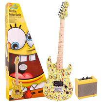 Kit Guitarra Amplificador Bob Esponja Cabo Bag Correia