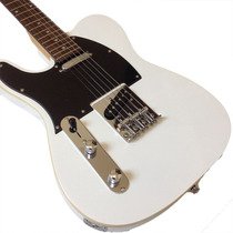 Guitarra Gbspro Telecaster Canhoto -branco+capa+frete Brasil