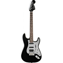 Guitarra Squier By Fender Strato Black Chrome Fat Black