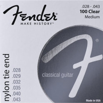 Encordoamento Violão Nylon 0.28 100 Clear Prata Pura Fender