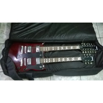 Vendo Guitarra Double Neck Gbs Pro Com Bag E Correa