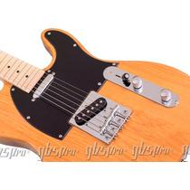Guitarra Gbspro Telecaster Natural Blindada + Frete + Capa