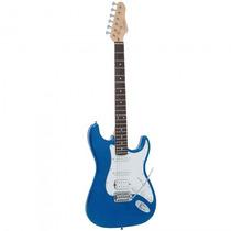 Guitarra Giannini G-101 Mb/wh Stratocaster Azul - Refinado