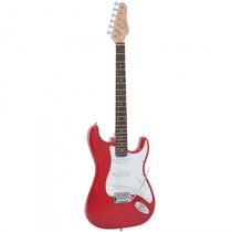 Guitarra Giannini G-100 Trd/wh Strato Vermelha - Refinado