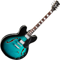 Guitarra Semi Acustica Giannini Gsh350 El Diamond Dark Blue