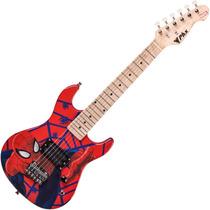 Guitarra Infantil Stratocaster Homem Aranha Phx + Correia