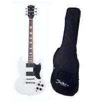Guitarra Detroit Shelter Det305gbw Branca Captação Dupla Bag