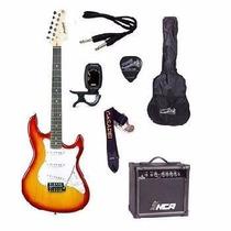 Kit Guitarra Strinberg Strato Egs216 Cherry + Amplificador