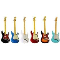Guitarra +cabo+brindes Fender Strato Tagima Tg530 Woodstock