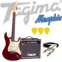Kit Guitarra Tagima Memphis Mg32 + Acessórios - Vermelha M.
