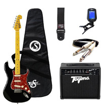 Kit Guitarra Tagima Woodstock + Acessórios - Preta