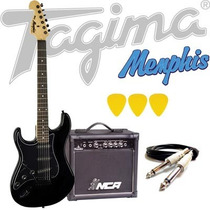 Kit Guitarra Tagima Memphis Mg32 + Acessórios - Preta Lh