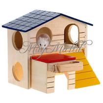 Casa E Comedouro Para Roedores Hamster Rato