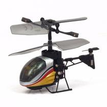 Nano Falcon Prata E Dourado - Helicóptero Rc Silverlit Dtc