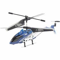 Mini Helicóptero 3,5 Canais Com Controle Remoto Azul Brink+
