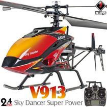 Helicóptero Wltoys V913 4ch 2.4ghz Rtf