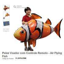 Peixe Nemo Voador Com Controle Remoto - Nylon Alta Qualidade