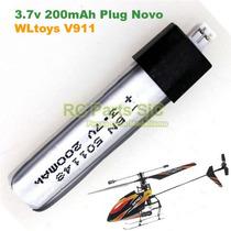Bateria 200mah Plugue Novo Upgrade - Helicóptero Wltoys V911