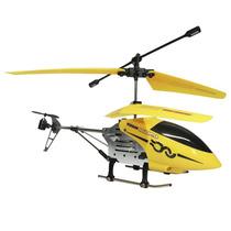 Helicóptero Rc Topo Aguia Negra 3 Canais Amarelo Babyou