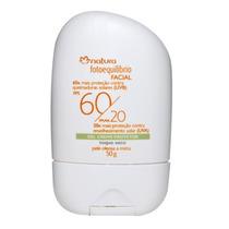 Gel Creme Protetor Facial Natura 50ml Toque Seco Fator 60/20