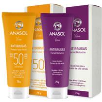 Kit Antirrugas Facial- Protetor Solar Fps50 + Creme Noturno