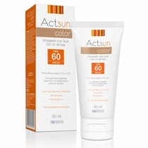 Protetor Solar Actsun Color Facial Fps 60 60ml