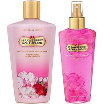 Kit Creme + Splash Strawberries & Champagne Vic Secret 250ml