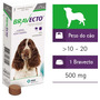 Anti Pulgas Bravecto Peso Do Cão 10 À 20 Kg. 500 Mg