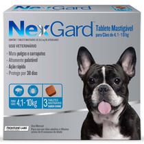 Nexgard Combo Cães De 4,1 A 10 Kg 3 Unidades