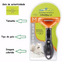 Escova Tira Pêlos Furminator Para Cães Médios Pêlos Longos P