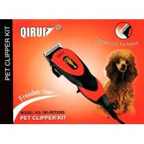 Kit Maquina De Tosa Qirui Profissional Pet Cães Gatos 110v