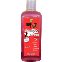 Shampoo Nature Dog 4x1 Antipulgas Para Cães E Gatos 500 Ml