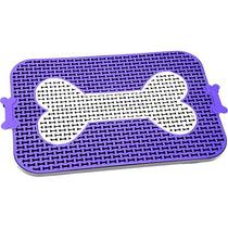 Sanitário Canino Higiênico Osso Lilás Banheiro Cachorro Cães
