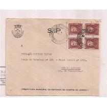 Um Envelope Circulado Do Brasil