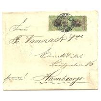 1900 - Env0016 - Belissima Carta De Sta Catarina P/alemanha