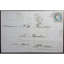 França 1 8 6 9 Carta Circulada De Marselha Para La Rochere