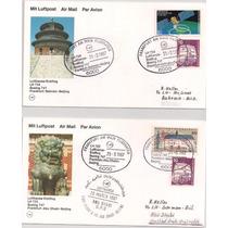 Alemanha - Envelopes Circulados Via Lufthansa-várias Épocas!