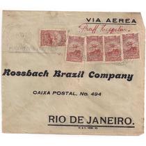 Zeppelin - Envelope Circul. Voo Interno Recife - R.j.-1934!!
