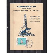 Portugal-folhinhas Homenagem A Lubrapex 1978 Em Porto Alegre