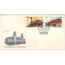 Col 06612 Cuba Fdc 1880/81 Trens Locomotivas Evolução