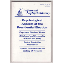 Psicohistória Journal Of Psychohistory Bush Kerry Terrorismo