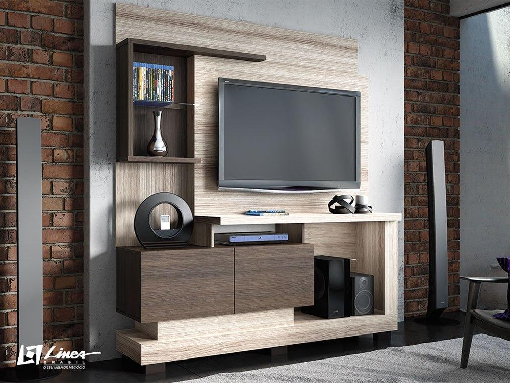 Sala De Tv Tipo Home ~ Home Para Sala De Tv Modelo Turin  R$ 460,00 no MercadoLivre