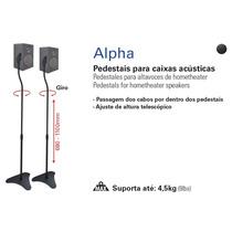 Suporte P/ Caixa Acustica Pedestal Alpha ( Par ) Multivisão